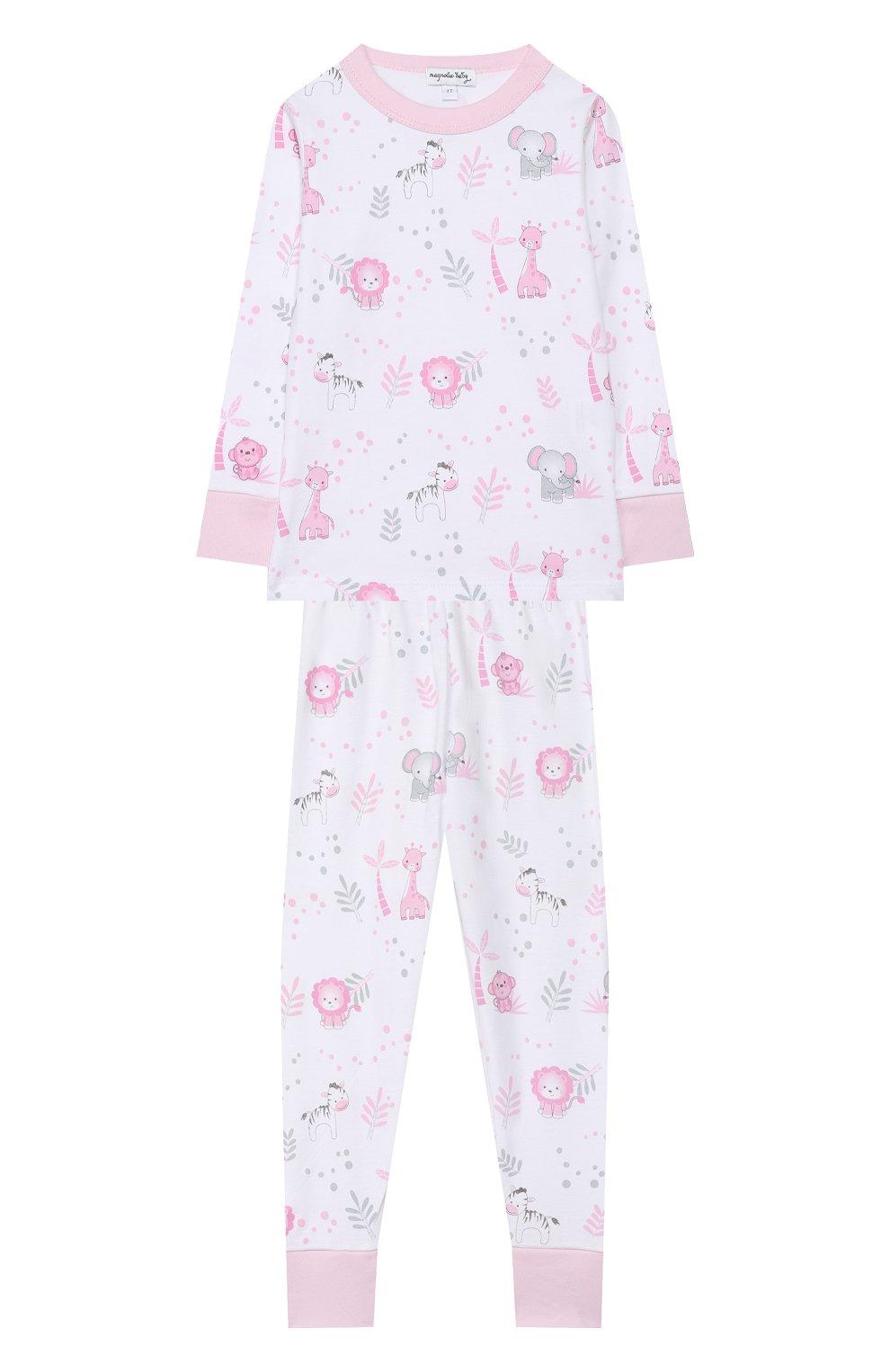 Детский хлопковая пижама MAGNOLIA BABY розового цвета, арт. 649-LP-PK   Фото 1