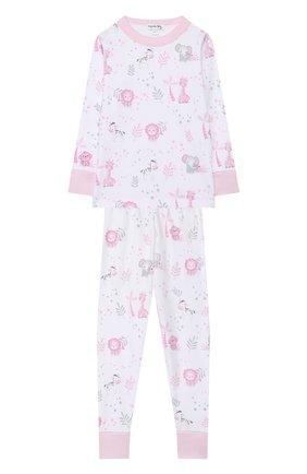 Детский хлопковая пижама MAGNOLIA BABY розового цвета, арт. 649-LP-PK | Фото 1