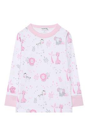 Детский хлопковая пижама MAGNOLIA BABY розового цвета, арт. 649-LP-PK | Фото 2