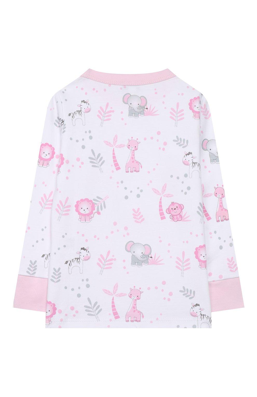 Детский хлопковая пижама MAGNOLIA BABY розового цвета, арт. 649-LP-PK   Фото 3