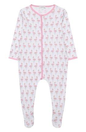 Детский хлопковый комбинезон MAGNOLIA BABY розового цвета, арт. 891-402P-PK | Фото 1