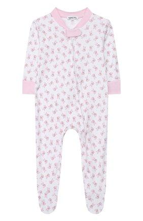 Детский хлопковый комбинезон MAGNOLIA BABY розового цвета, арт. 755-428P-PK | Фото 1