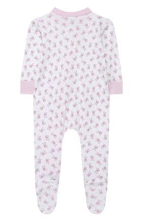 Детский хлопковый комбинезон MAGNOLIA BABY розового цвета, арт. 755-428P-PK | Фото 2