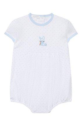 Детское хлопковый песочник MAGNOLIA BABY голубого цвета, арт. 755-225-LB | Фото 1