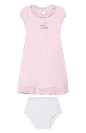 Женский комплект из сорочки и шорт MAGNOLIA BABY розового цвета, арт. 649-646-PK | Фото 1