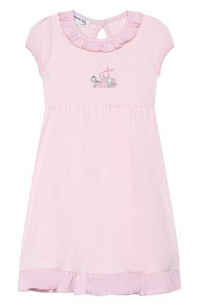 Женский комплект из сорочки и шорт MAGNOLIA BABY розового цвета, арт. 649-646-PK | Фото 2