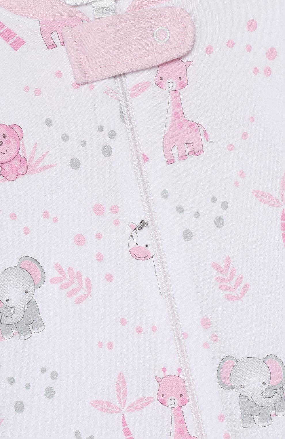 Детский хлопковый комбинезон MAGNOLIA BABY розового цвета, арт. 649-ZP-PK | Фото 3