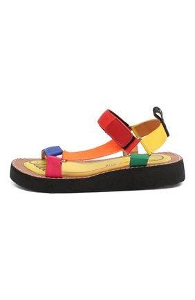 Детские босоножки PIED ROUGIA PARIS разноцветного цвета, арт. WALKIE TALKIE/WTS2001N07/32-34 | Фото 2