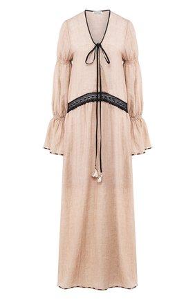 Женское хлопковое платье MASTERPEACE бежевого цвета, арт. MP-SS20-26 | Фото 1