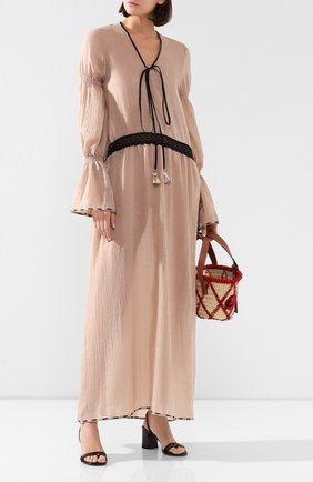Женское хлопковое платье MASTERPEACE бежевого цвета, арт. MP-SS20-26 | Фото 2