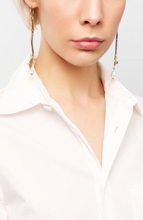 Женские серьги callie CHLOÉ золотого цвета, арт. CHC20SFE39SNB | Фото 2