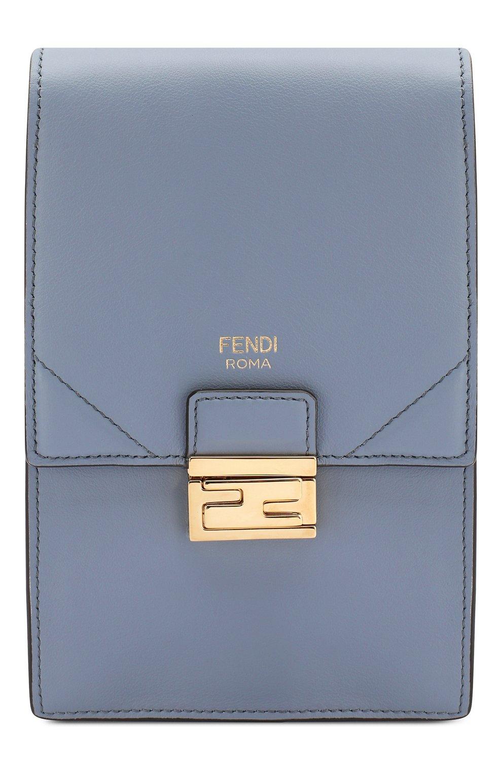 Женская сумка kan i mini FENDI голубого цвета, арт. 8M0436 A5DY   Фото 1