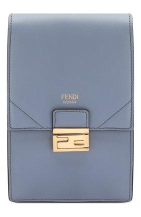 Женская сумка kan i mini FENDI голубого цвета, арт. 8M0436 A5DY | Фото 1