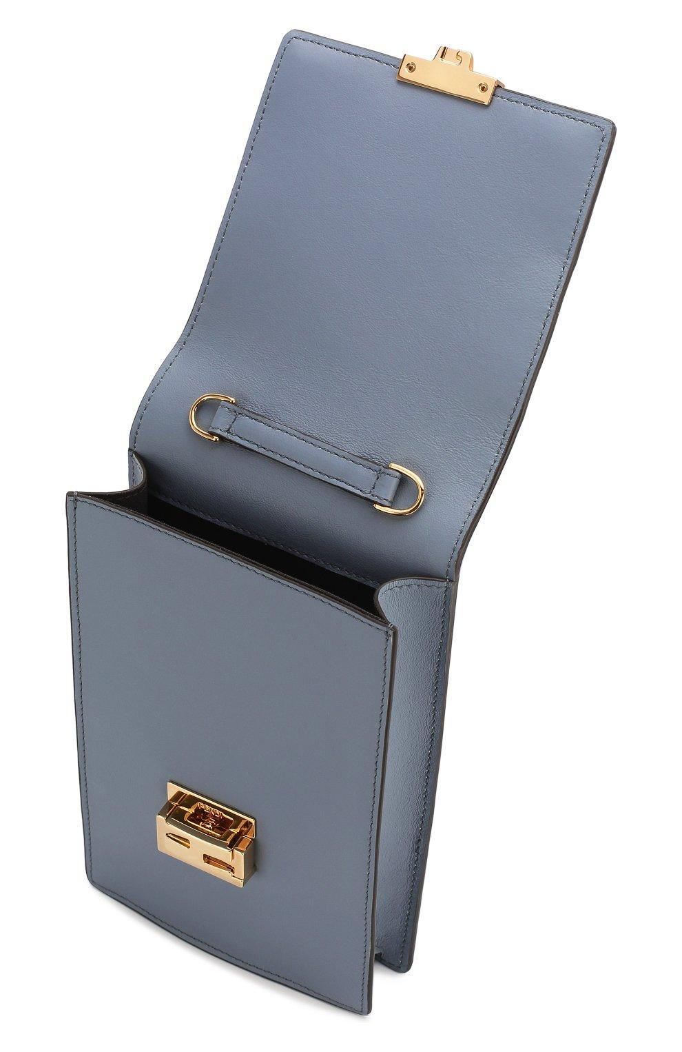 Женская сумка kan i mini FENDI голубого цвета, арт. 8M0436 A5DY   Фото 4