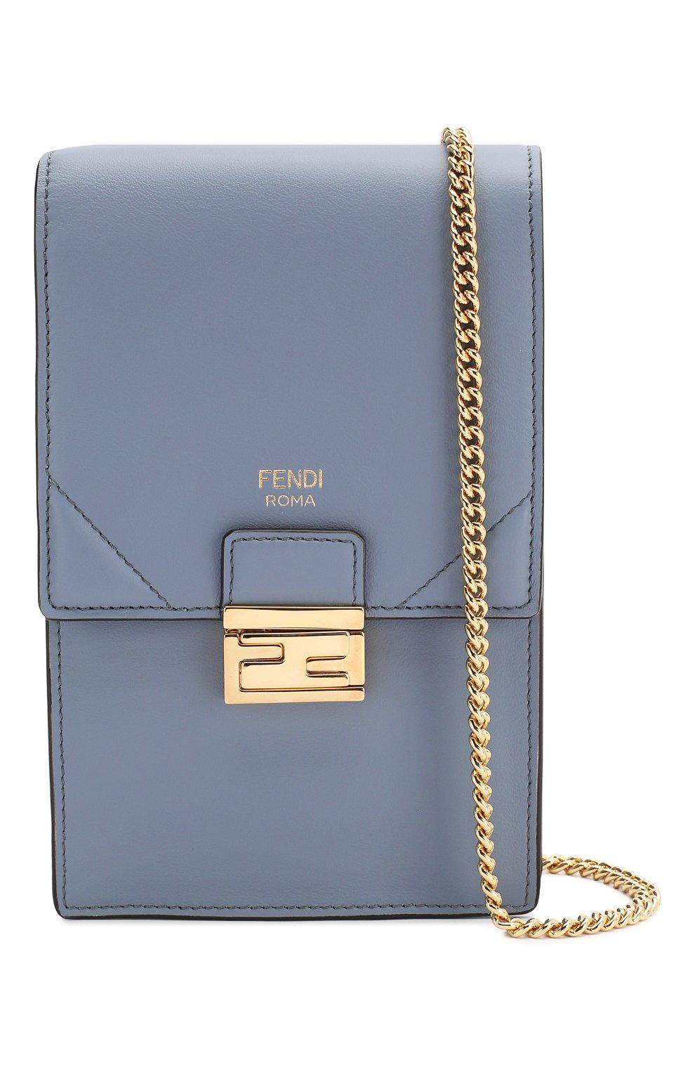 Женская сумка kan i mini FENDI голубого цвета, арт. 8M0436 A5DY   Фото 5