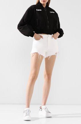 Женские кожаные кеды ALEXANDER MCQUEEN белого цвета, арт. 621056/WHXMT | Фото 2