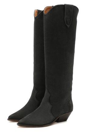 Женские замшевые сапоги denvee ISABEL MARANT серого цвета, арт. DENVEE/BT0072-20P002S | Фото 1