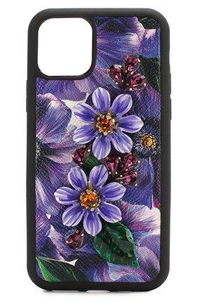 Мужской чехол для iphone 11 pro DOLCE & GABBANA сиреневого цвета, арт. BI2689/AJ883 | Фото 1