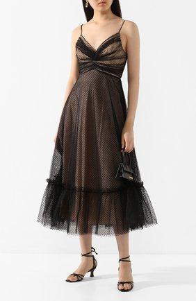 Женские кожаные босоножки lase 50 MANU ATELIER черного цвета, арт. 2019001 | Фото 2