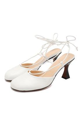 Женская кожаные туфли city 80 MANU ATELIER белого цвета, арт. 2019088 | Фото 1
