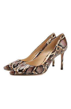 Женская кожаные туфли romy 85 JIMMY CHOO светло-розового цвета, арт. R0MY 85/YDE | Фото 1