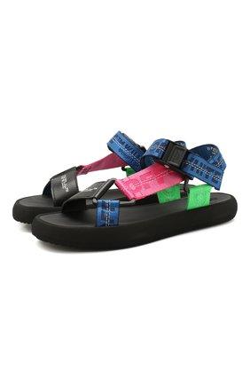 Женские текстильные сандалии micro OFF-WHITE разноцветного цвета, арт. 0WIA215S20FAB0018400   Фото 1