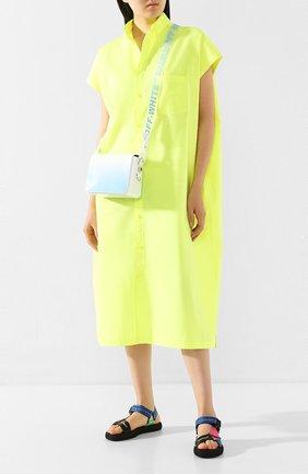 Женские текстильные сандалии micro OFF-WHITE разноцветного цвета, арт. 0WIA215S20FAB0018400   Фото 2