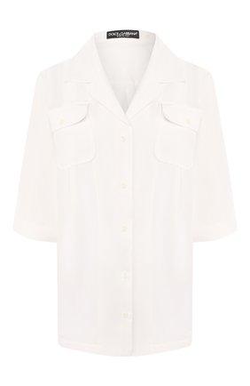 Женская шелковая рубашка DOLCE & GABBANA белого цвета, арт. F5M55T/FU1UJ | Фото 1