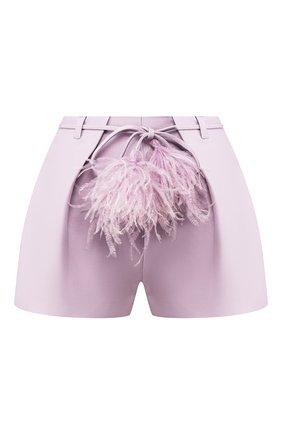 Женские шорты из смеси шерсти и шелка VALENTINO сиреневого цвета, арт. TB0RF1A51CF | Фото 1