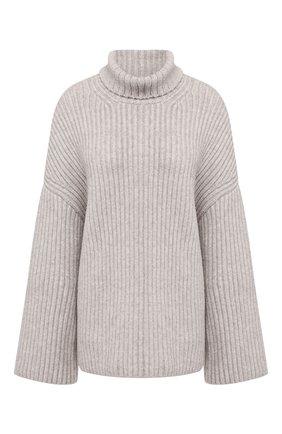 Женский шерстяной свитер  NANUSHKA серого цвета, арт. RAW_HEATHER GREY_S0FT W00L BLEND | Фото 1