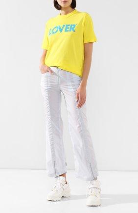 Женская хлопковая футболка DSQUARED2 желтого цвета, арт. S72GD0234/S21600 | Фото 2