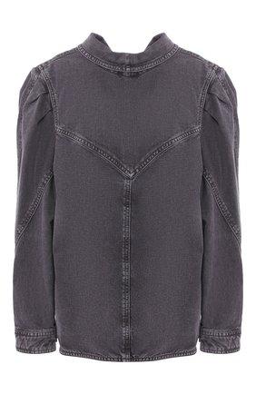Женская джинсовая рубашка ISABEL MARANT темно-серого цвета, арт. HT1746-20E010I/ESPERA | Фото 1