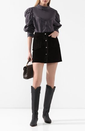 Женская джинсовая рубашка ISABEL MARANT темно-серого цвета, арт. HT1746-20E010I/ESPERA | Фото 2