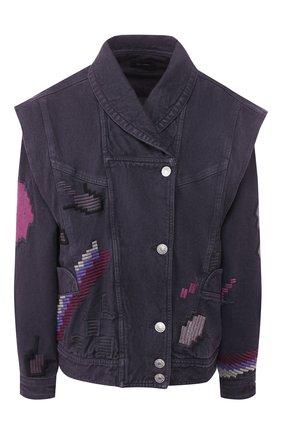 Женская джинсовая куртка ISABEL MARANT темно-серого цвета, арт. VE1326-20E009I/ERIAL | Фото 1