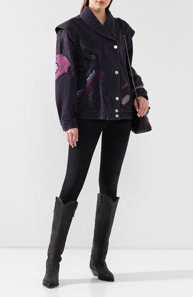 Женская джинсовая куртка ISABEL MARANT темно-серого цвета, арт. VE1326-20E009I/ERIAL | Фото 2