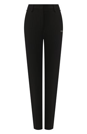 Женские брюки из смеси шерсти и вискозы OFF-WHITE черного цвета, арт. 0WCA060R205150681000 | Фото 1