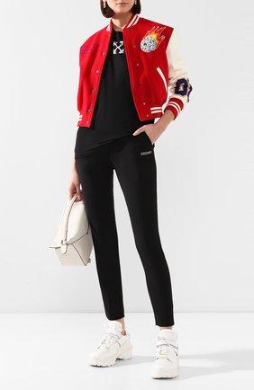 Женские брюки из смеси шерсти и вискозы OFF-WHITE черного цвета, арт. 0WCA060R205150681000 | Фото 2