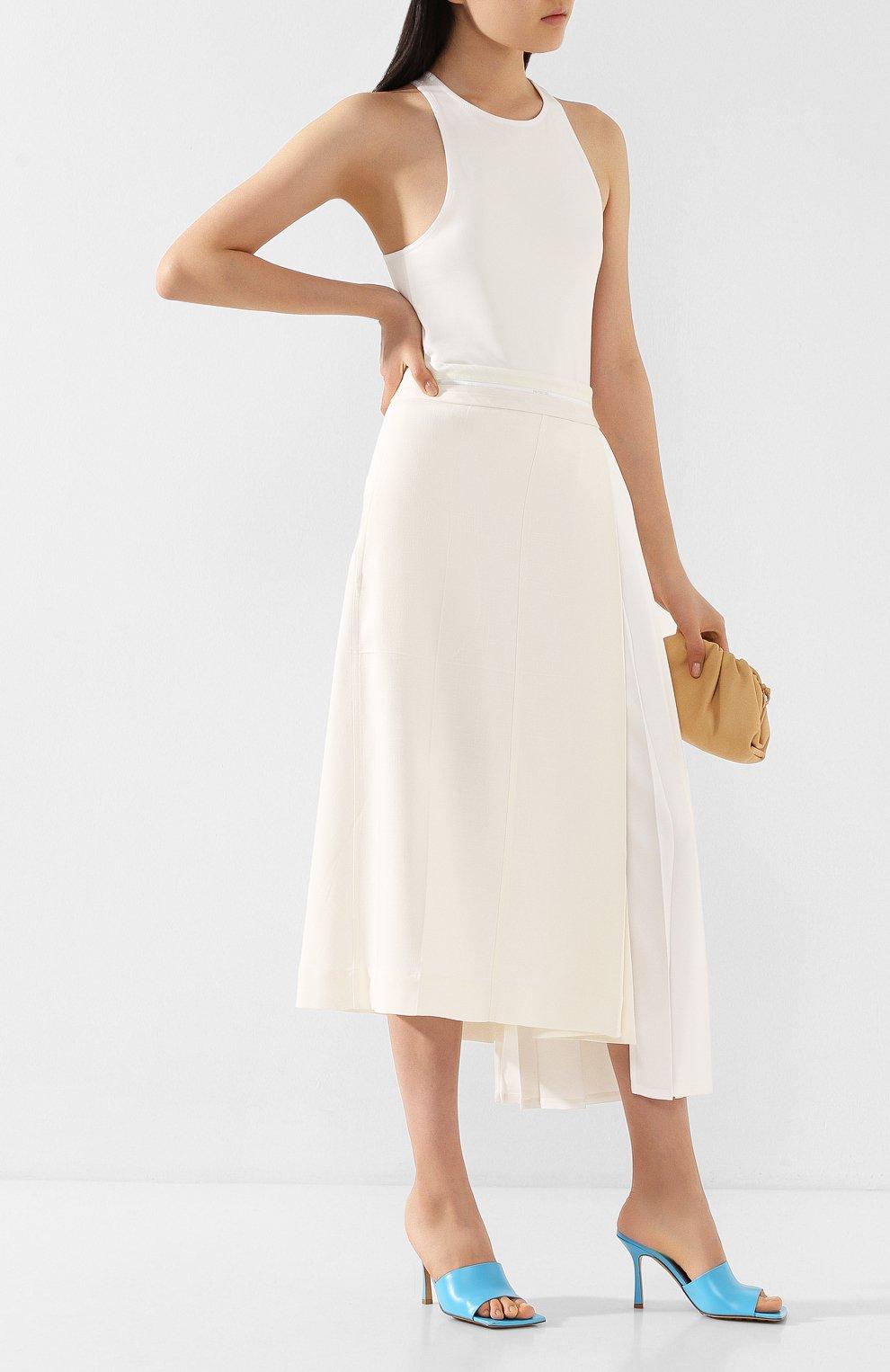 Женская юбка из вискозы PETER DO белого цвета, арт. PD-SS20-213/VI010-EGG/TA009-WHT | Фото 2
