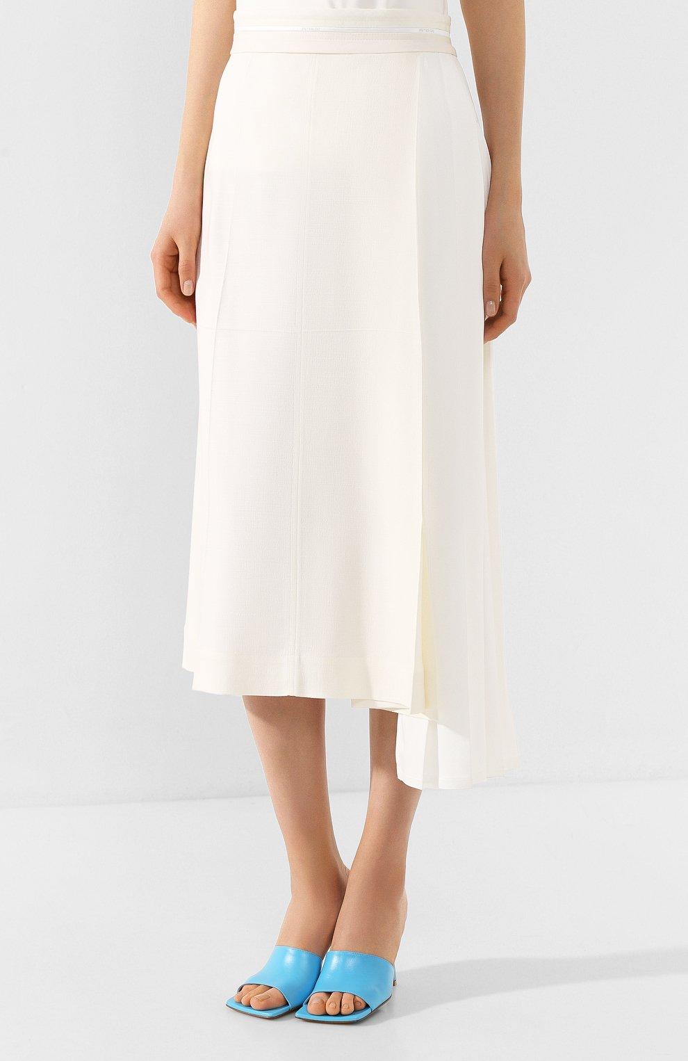 Женская юбка из вискозы PETER DO белого цвета, арт. PD-SS20-213/VI010-EGG/TA009-WHT | Фото 3