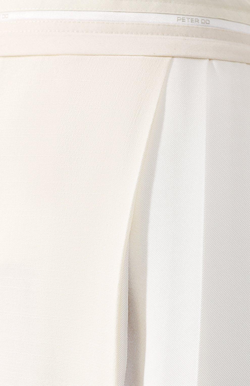 Женская юбка из вискозы PETER DO белого цвета, арт. PD-SS20-213/VI010-EGG/TA009-WHT | Фото 5