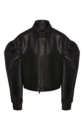 Женская кожаная куртка VALENTINO черного цвета, арт. TB0NA05L1AW | Фото 1