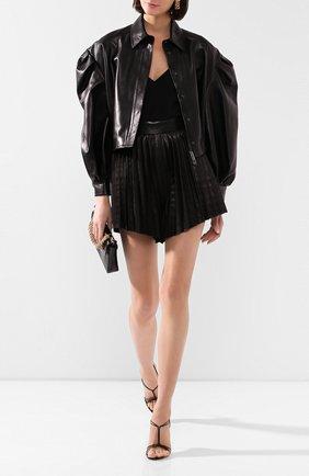 Женская кожаная куртка VALENTINO черного цвета, арт. TB0NA05L1AW | Фото 2