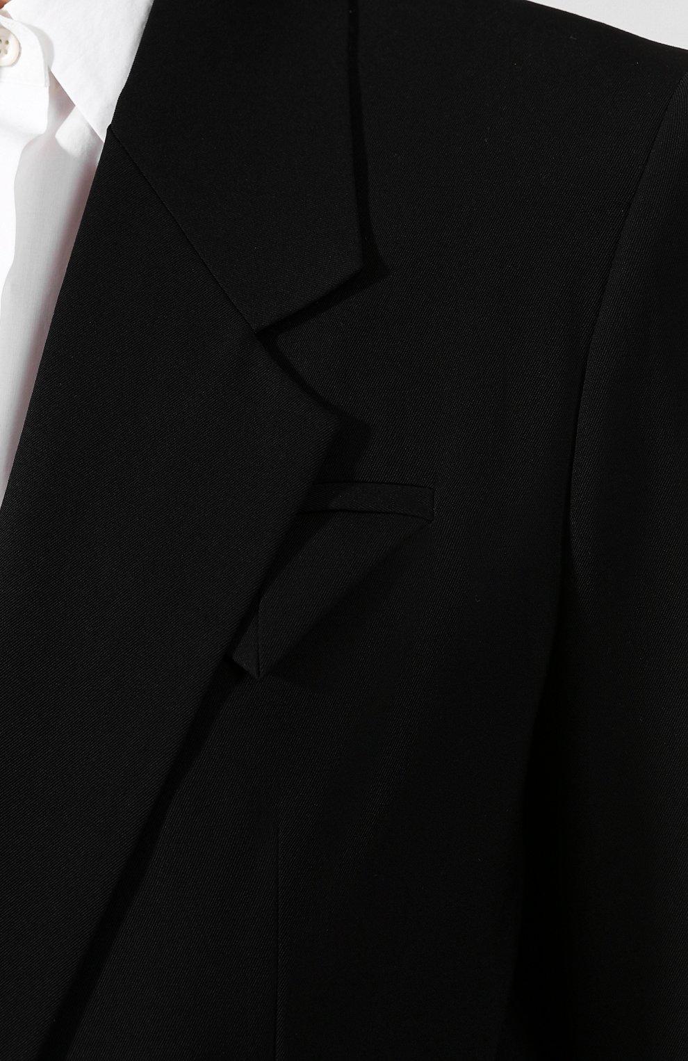Женский шерстяной жакет BOTTEGA VENETA черного цвета, арт. 621131/VKPZ0   Фото 5