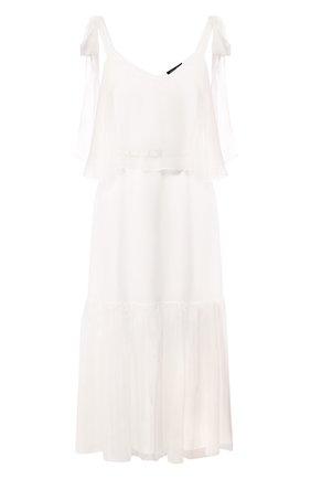 Женское шелковое платье TEREKHOV GIRL белого цвета, арт. 2DE055/1091.101/S20 | Фото 1