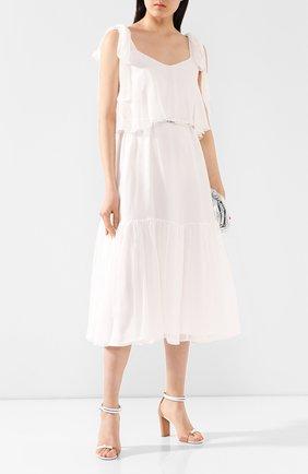 Женское шелковое платье TEREKHOV GIRL белого цвета, арт. 2DE055/1091.101/S20 | Фото 2