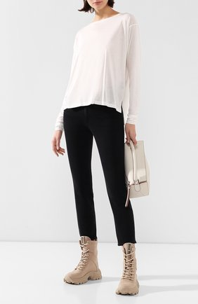 Женская пуловер  ISABEL BENENATO белого цвета, арт. DJ05S20 | Фото 2