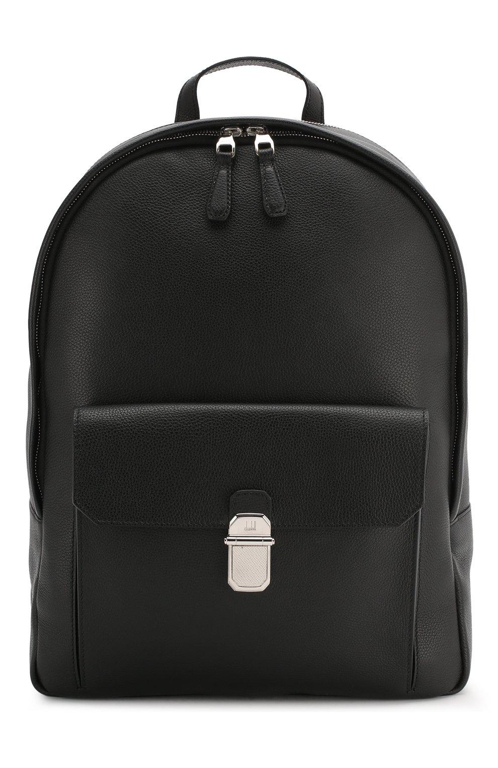 Мужской кожаный рюкзак DUNHILL черного цвета, арт. DU19F3720AR | Фото 1