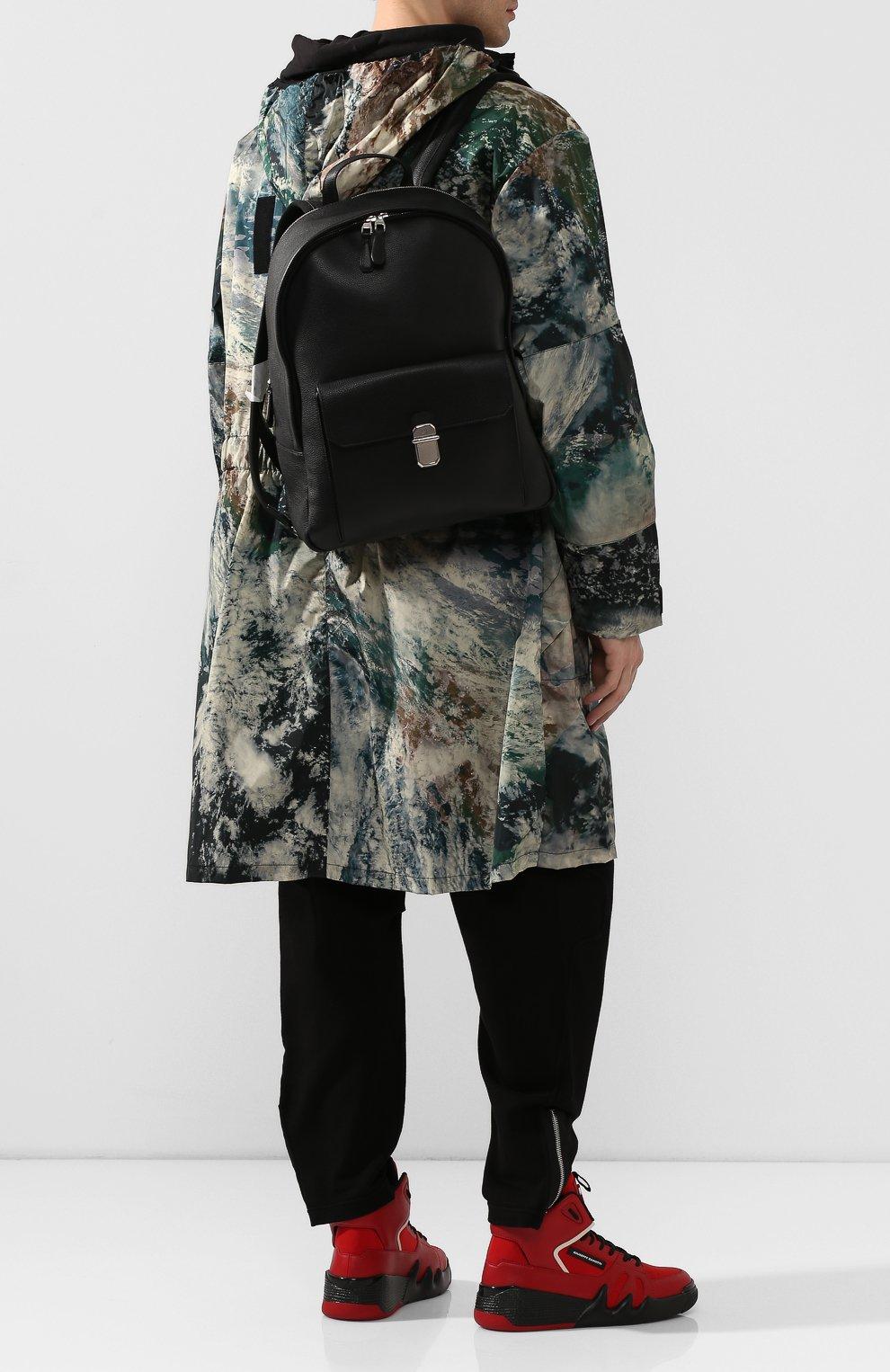 Мужской кожаный рюкзак DUNHILL черного цвета, арт. DU19F3720AR | Фото 2