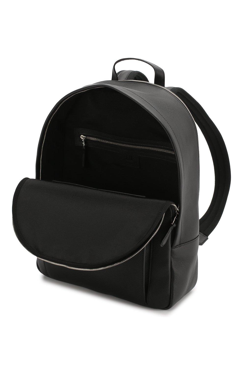 Мужской кожаный рюкзак DUNHILL черного цвета, арт. DU19F3720AR | Фото 4