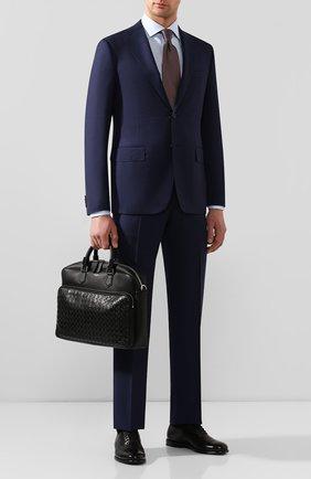 Мужская кожаная сумка для ноутбука SERAPIAN черного цвета, арт. SM0SAMLL6923M40A | Фото 2